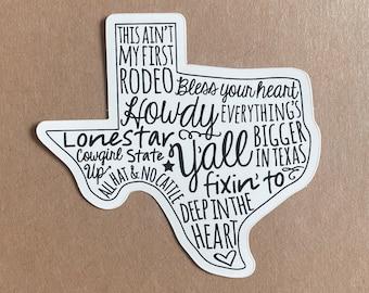 Texas Sayings Vinyl Sticker