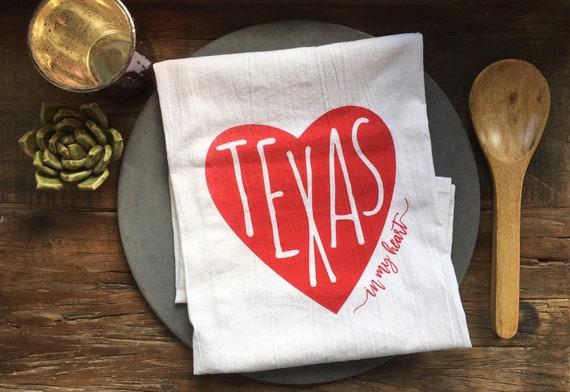 Texas In My Heart Flour Sack Towel