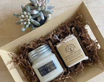 Texas Hill Country Scents Candle & Soap Gift Basket