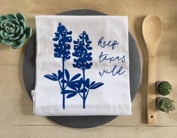 Texas Bluebonnets Flour Sack Towel