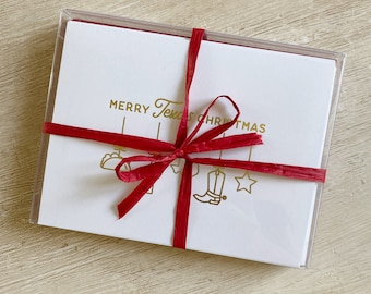 Texas Christmas Ornaments Boxed Cards