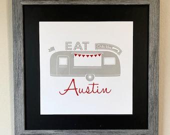 Austin Texas Food Truck Art Screen Print
