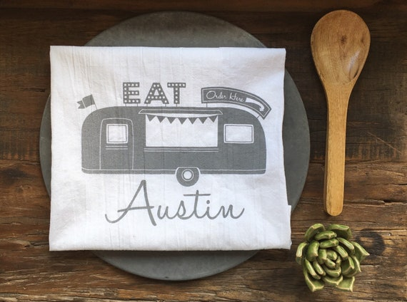 Austin Food Truck Flour Sack Towel