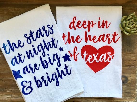Stars at Night / Heart of Texas Towel Set