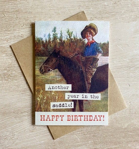 Another Year Vintage Birthday Card