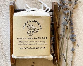 Goat's Milk Bath Bar and Bamboo Tray