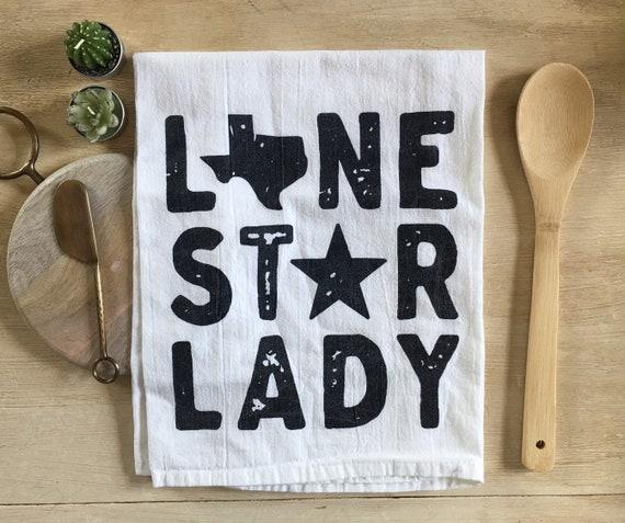 Lone Star Lady Flour Sack Towel