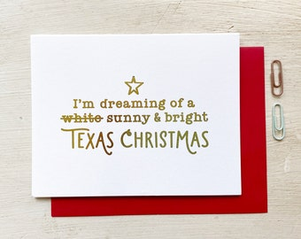 Sunny & Bright Texas Christmas Greeting Card