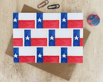 Texas Flags Pattern Note Card
