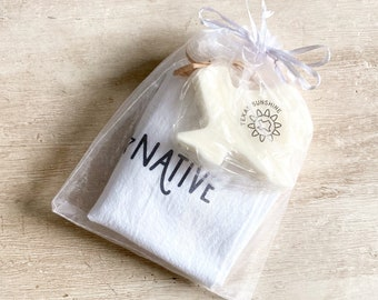 Texas Forever / Native Hand Towel & Soap Gift Set