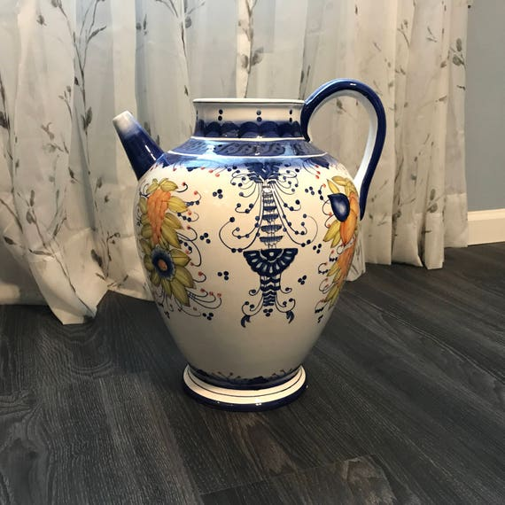 Fine Art Ceramics Pottery Ceramic Large Italian