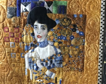 The Woman In Gold Quilted Wall Hanging