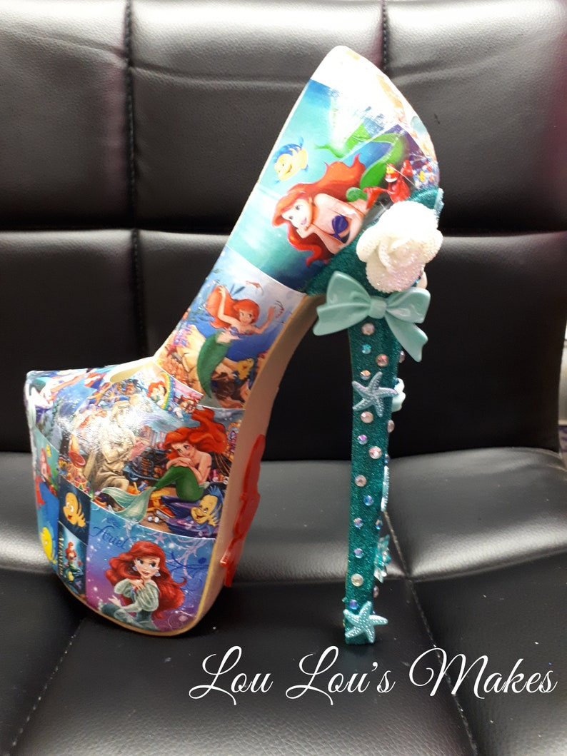 57e8165c4c509 Disney Little Mermaid Ariel High Heel Shoes
