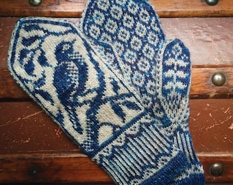 PDF Knitting Pattern - Songbird Mittens