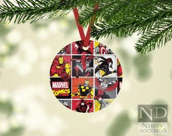 Marvel Christmas Tree Topper.Marvel Ornament Etsy