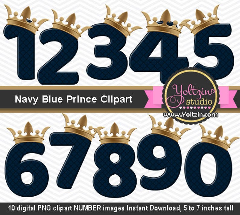 9 Out Of 10 Doctors Agree That 1 Out Of 10 Doc Zazzle >> Prince Clipart Gold Navy Numbers Baby Blue Boy Golden Crown Etsy
