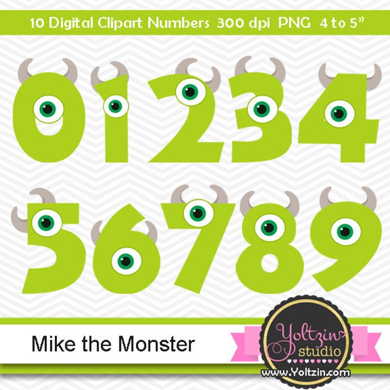 9 Out Of 10 Doctors Agree That 1 Out Of 10 Doc Zazzle >> Monsters Clipart Numbers Mike Inc Monster Clipart University Etsy