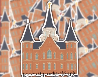 Provo City Center Temple Sticker | Utah Sticker | LDS | Vinyl Matte Weatherproof Decal | Religious