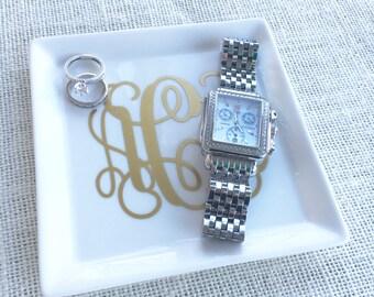 Monogram Jewelry Tray, Personalized Jewelry Tray, Monogram Catch All Tray, Monogram Trinket Tray, Monogram Jewelry Holder