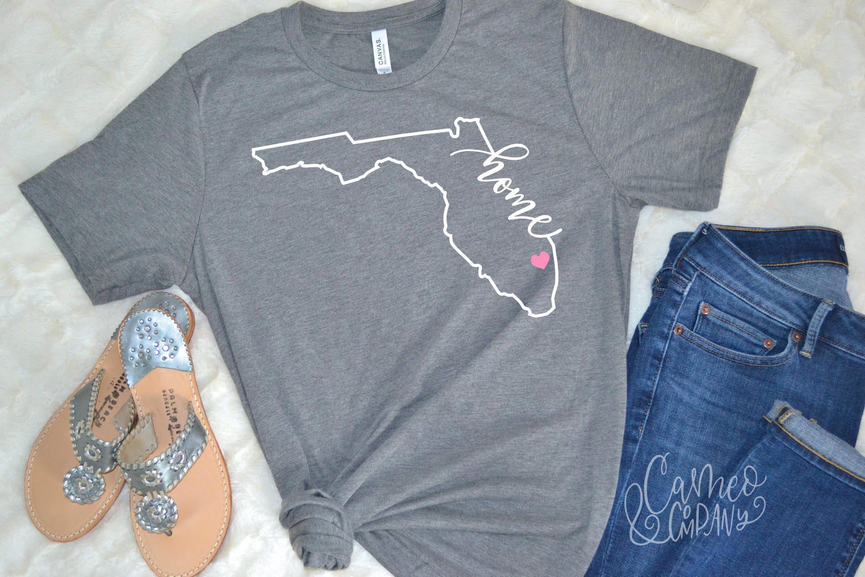 Florida Home Tshirt Florida Home Shirt Florida Home Tee Etsy