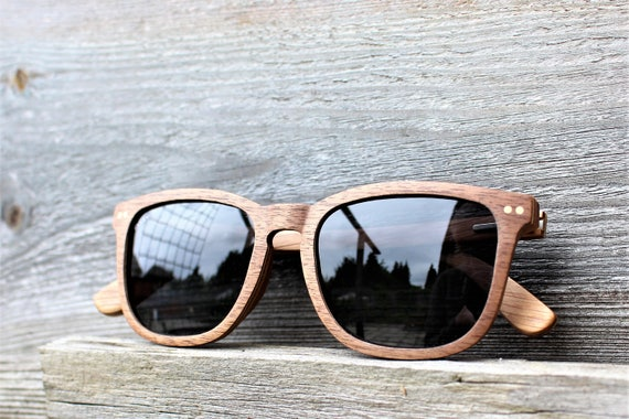 87ead8f00e Paul Ven Fox Walnut Wood Square Wayfarer Wooden sunglasses.