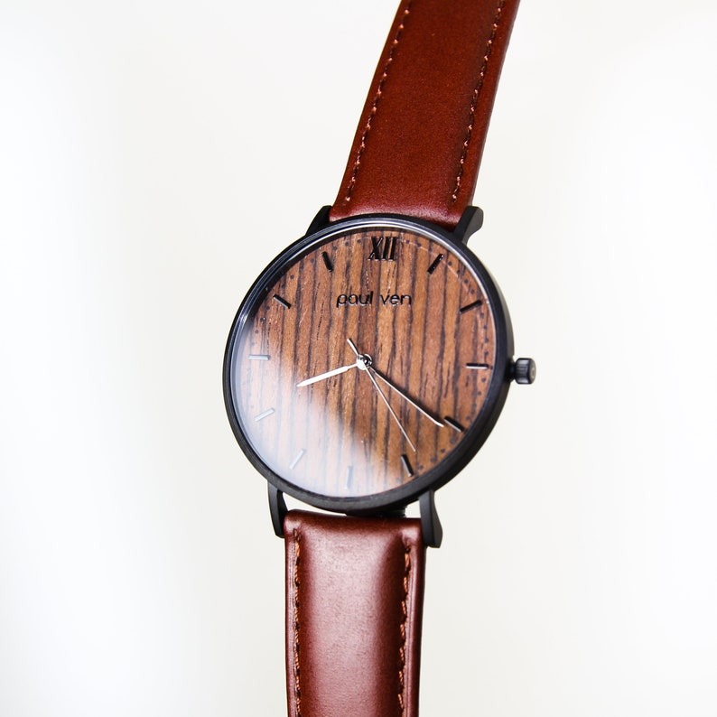 231b1f894c3b1a Minimalist Wooden watch by paul ven engraved watch made from | Etsy