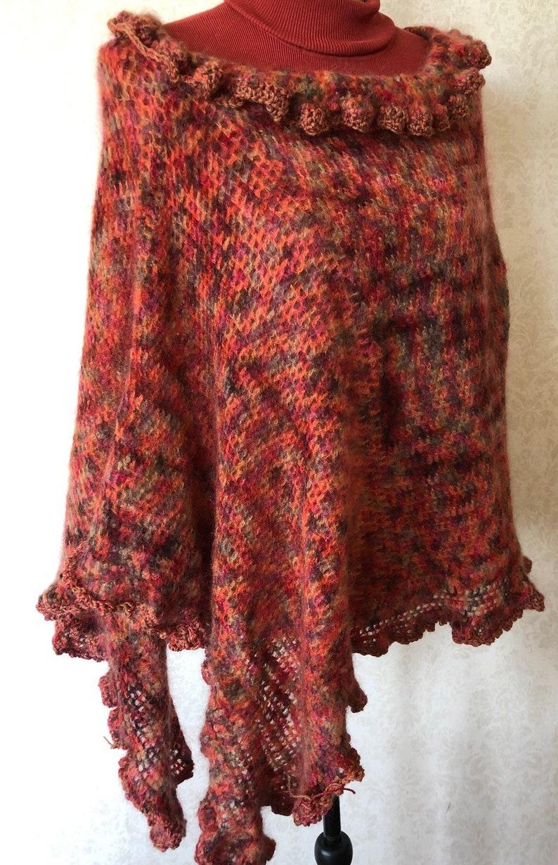 Crochet Lace Poncho Boho Chic Wrap Crochet Poncho Freeform Crochet Knit Wrap Lace Poncho Boho Crochet Shawl Boho Gypsy Shawl