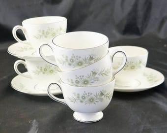 6 Cups and 3 Saucers in the Westbury Pattern by Wedgwood