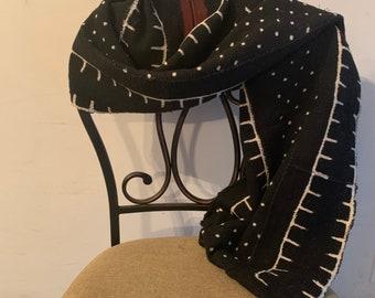 Bogolan Wrap Ethic Wrap African Shawl African Wrap Mudcloth Wrap