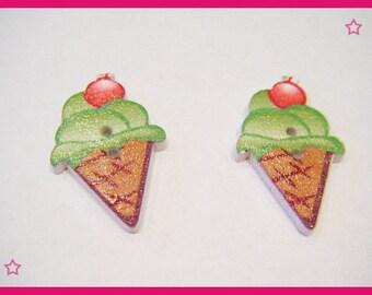 2 buttons - icecream ice