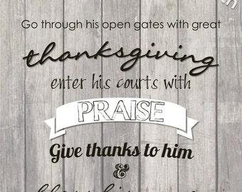 Thanksgiving - printable