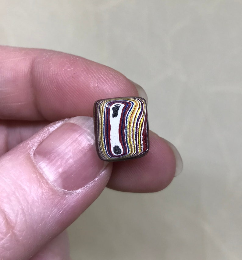 Men/'s Birthday Corvette Fordite Tie Tack Sterling Silver Fordite Lapel Pin Square Colorful Fordite Cabochon Father/'s Day Gifts for Dad