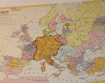 Medieval Europe Map Etsy
