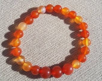 Orange Carnelian Crystal Bracelet Protection Reiki