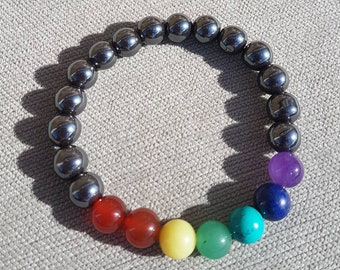 Unisex Chakra Crystal Bracelet for Protection with Reiki