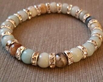 Multicolour Amazonite Crystal Bracelet - Protection Reiki