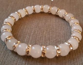 White Snow Quartz Crystal Bracelet - Protection Reiki