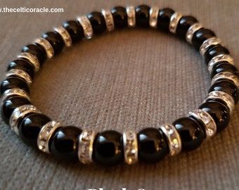 Black Onyx Crystal Bracelet - Protection Reiki