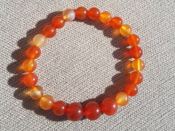 Red Carnelian Crystal Bracelet Protection Reiki