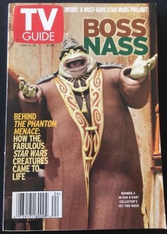 Tv Guide June 12 18 Star Wars The Phantom Menace Boss Nass Magazine Book
