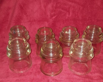 Vintage Dominion #16 Clear Glass Insulators - Made in Canada