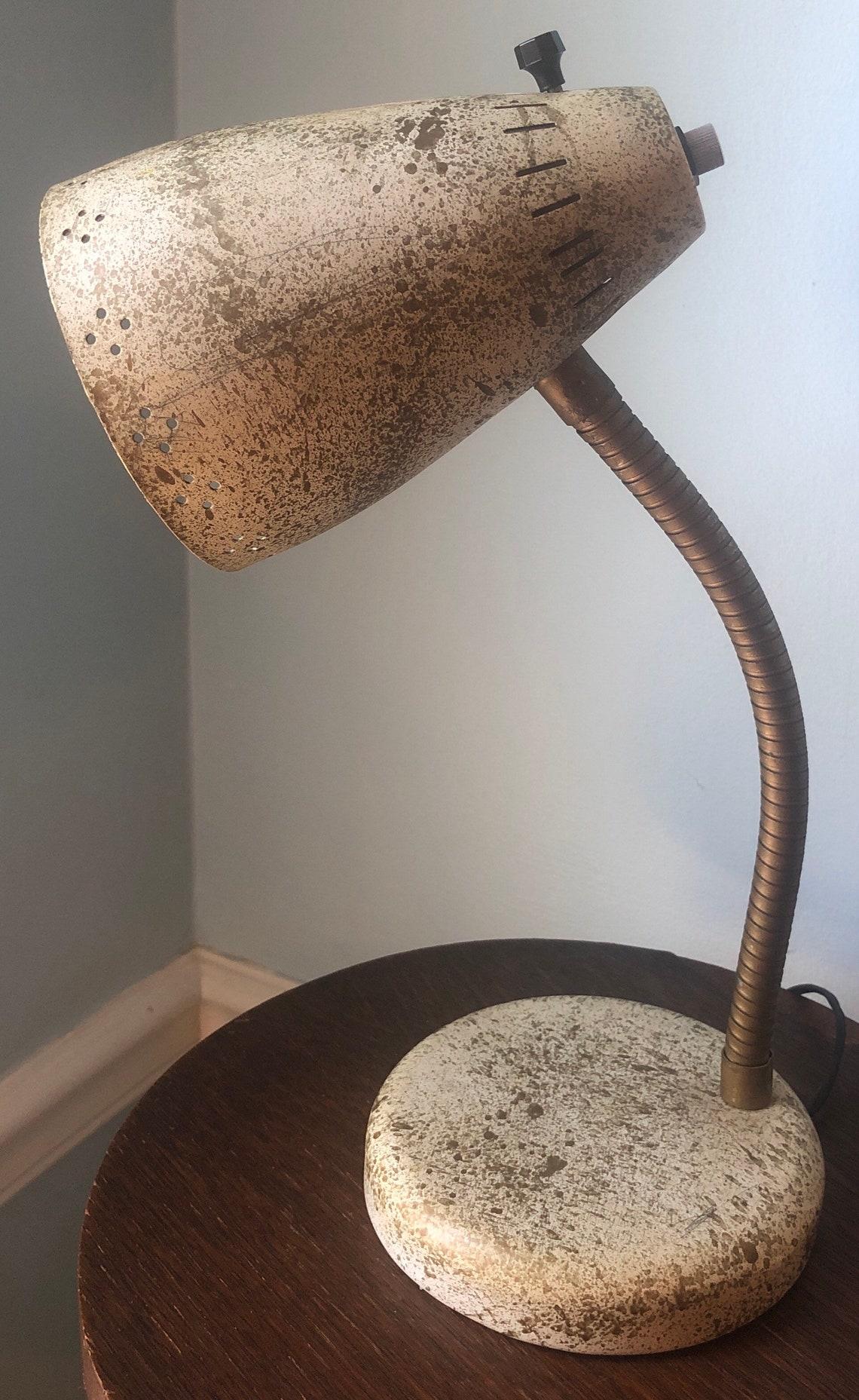 Vintage Mid Century Modern Adjustagle Finish Gooseneck Cone Desk Lamp 1950 S Eclairage