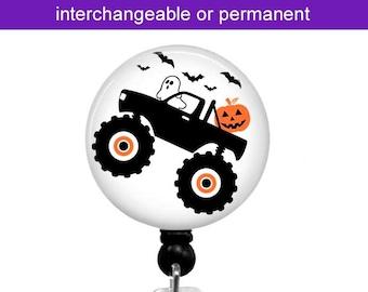 Interchangeable Badge Reel ~ Halloween Badge Holder ~ Pumpkin ~ Ghost ~ Badge Clip ~ Lanyard ~ Stethoscope ID Tag ~ T64