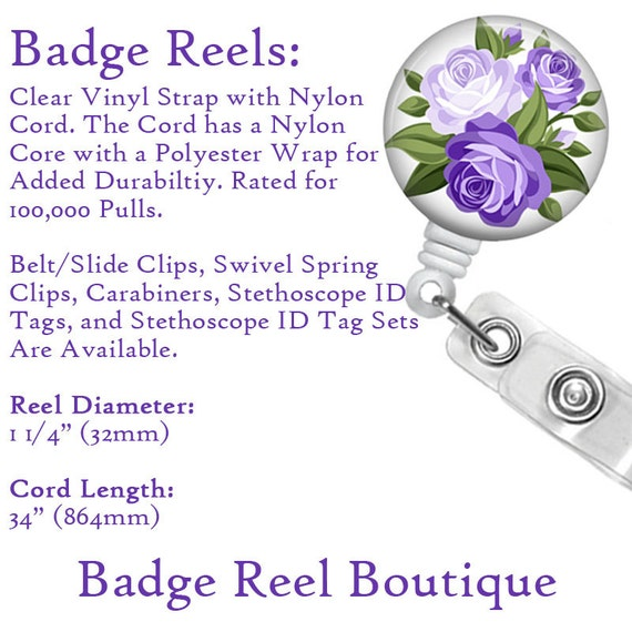 Retractable Badge Reel Pull Name ID Clip Holder Optometrist Optician Optometry