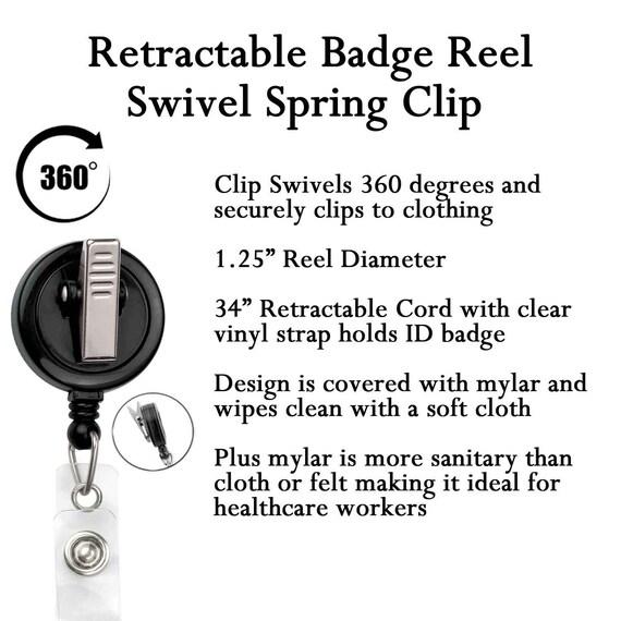 Black /& White Swiss Dot Badge Reel