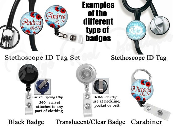 NICU Baby Feet Badge Reel Retractable Badge Holder Clothing, Shoes & Accessories Women's Accessories 331C