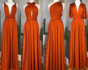 Orange Wedding Dress Etsy