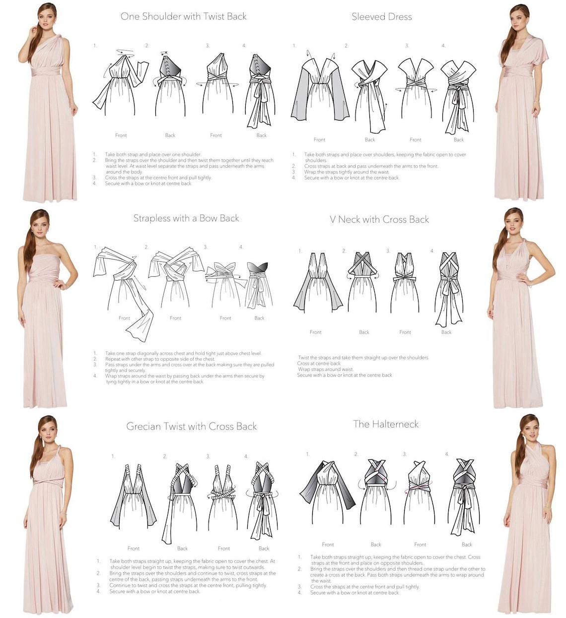 Plum Bridesmaid Dress Custom Lengths Convertible Dress