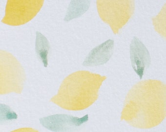 Watercolor lemon painting- digital painting
