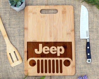 Jeep Cutting Board Custom Cheese Bread Personalized Laser Engraved Lover Gift Present